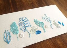 Wild Coral, the latest in the Wild series of embroidery patterns — Kelly Fletcher Needlework Design