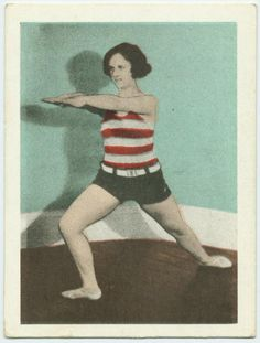 vintage everyday: 1930s Working Out Style – Cigarette Cards Illustrated 25 Simple Exercises for Men and Women