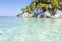 What a beach! Skopelos Greece, Skiathos, Zorba The Greek, Greek Life, Greece Travel, Greek Islands, Travel Inspiration, Bliss, Beautiful Places