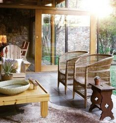 natural cane chair