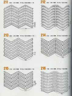 Patrones crochet ganchillo graficos puntos en zic zac tejidos pontos croche ripple grafico ccuart Gallery