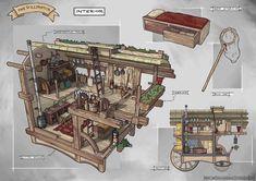 FZD School of Design Fantasy Town, Fantasy House, Fantasy Rpg, Medieval Fantasy, Fantasy World, Apocalypse Art, Apocalypse Survival, Fantasy Inspiration, Character Design Inspiration
