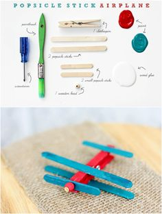 HAPPILY EVERLY AFTER: popsicle stick airplane