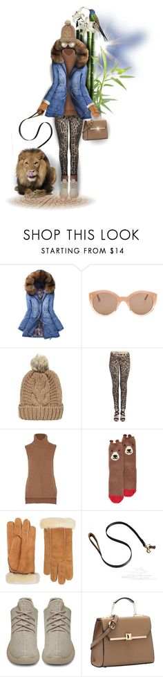 """;)Tanzania (doll fur set) animal print & animal"" by maison-de-forgeron ❤ liked on Polyvore featuring Illesteva, Enza Costa, P.J. Salvage, UGG Australia, Handle and adidas Originals"