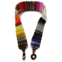 Seed Bead Bracelet Peyote Stitch Delica Stripes by JoannGirls, $21.99