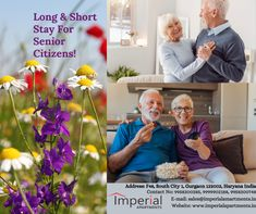 Are you worried about your parents? Don't worry we are here to take care of your parents! Your parents are safe with us. Imperial Apartment offers Fully furnishe dservice apartments with all the ametines like your own house. it inclues life, ramp, wheel chair, security alarm system and many more to take care of your parents. For more details, please contact us on Address: F48, South City 1, Gurgaon 122002, Haryana India Contact No: 9958200285, 9958200748, 9958200650 Fully Furnished Apartments, Serviced Apartments, Free Gas, Luxury Services, Security Alarm, Alarm System, Take Care Of Yourself, Don't Worry, No Worries