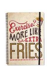 a4 spinout notebook, EXERCISE FRIES