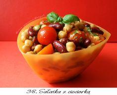 Sałatka z cieciorką i czerwoną fasolą Serving Bowls, Tasty, Healthy, Tableware, Kitchen, Dinnerware, Cooking, Tablewares, Kitchens