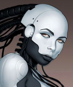 erotic robot art | Digital Art: Robot Girls - Female Robots - Android Girls