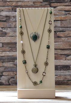 bijoux Petit casier module /à compartiments en bois pour perles boutons etc