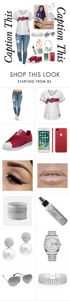 """""""Caption this"""" by mixedkiddd ❤ liked on Polyvore featuring Majestic, adidas, Avenue, Effy Jewelry, Rolex, Ray-Ban and Red Herring"""