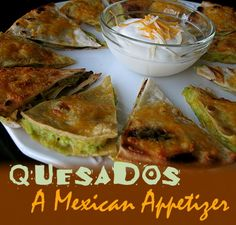Quesados: A Mexican Appetizer | Amanda's Cookin'