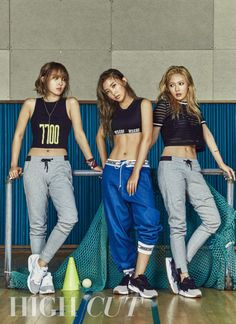 4minute are sexy working up a sweat in 'High Cut' photoshoot   allkpop.com