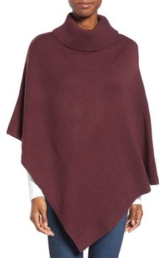 Halogen® Cowl Neck Poncho available at #Nordstrom  http://www.peacelovestyle.com/2016/11/21/poncho/