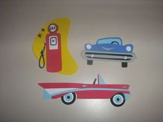 1950's retro Car classics for party by ThePaperdollPrincess, $12.00
