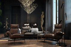 Paris Apartment by Iryna Dzhemesiuk & Vitaly Yurov (12)bushnelli sofa arketipi chairs