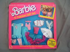 Barbie 1989 Lionel Exclusive 4 Fashion Gift Set 726 Summer Play Outfits + NRFB