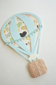 Hot Air Balloon Christening Invitation Scrapping Pinterest