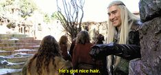 "dex5m: "" King Thranduil hanging out with Lake Town refugees. "" !! THE KING SMILES!"