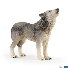 Figurine Loup hurlant - Figurines LA VIE SAUVAGE