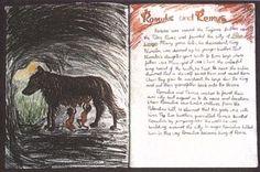 Waldorf ~ 6th grade ~ Romulus & Remus ~ main lesson book