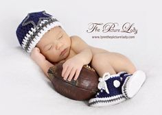 Dallas Cowboysinspired Converse and Hat set by BeesBootiesAndMore Photography by www.lynnthepicturelady.com