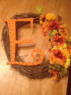 Wreath fall initial