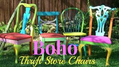 Boho Thrift Store Chairs - A Little Craft In Your DayA Little ...