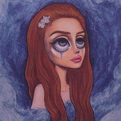 • Blue Velvet • Lana Del Rey #LDR #art by Peter Curtis