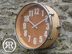 Reclaimed Drum Clock The title says it all really, this wall clock is made from a reclaimed drum! A great addition to any office, teenagers