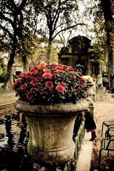 Paris mon amour  •  Jardin du Luxembourg Sat here to eat lunch in 2010