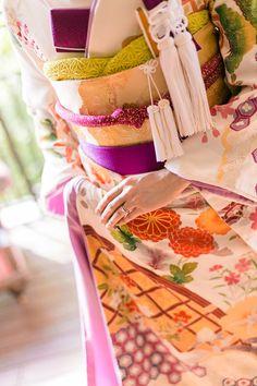 Japanese kimono wedding 引き振袖 本振袖 小物は2色使いが絶対おすすめ! 和装 着物 京都