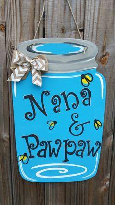 Mason Jar Door Hanger by AshleyKsCrafts on Etsy