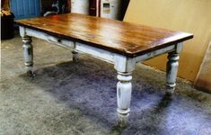 Farmhouse table in white scrubbed pine by Furnacebrook on Etsy, $3800.00