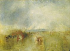 William Turner Procession of Boats with Distant Smoke, Venice   c. 1845; Oil on canvas, 90 x 120.5 cm; Tate Gallery, London