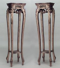 French Louis XV misc. furniture pedestal gilt