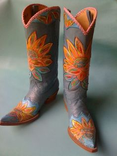 "Boots And Flip-Flops - Cock of the Walk - COCK OF THE WALK ""POWER OF LOVE"" BOOTS! - Cowgirl Fashion - DoubleDRanch