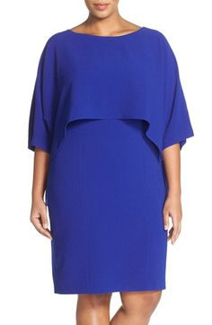 Adrianna Papell Popover Sheath Dress (Plus Size) available at #Nordstrom