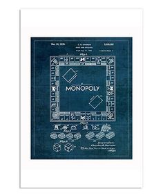 Oliver gal monopoly game 1935 framed pop art inspired blueprints 12 another great find on zulily monopoly 1935 print zulilyfinds blueprint artgame malvernweather Image collections