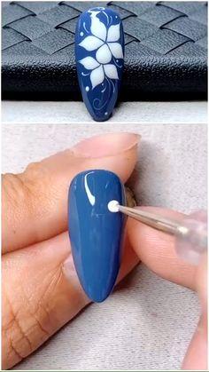 You do things… Nail Art Hacks, Gel Nail Art, Nail Art Diy, Diy Nails, Cute Nails, Nail Polish, Pretty Nails, Nail Art Designs Videos, Nail Art Videos