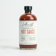 Southern Art – Handcrafted Hot Sauce - really digging the 'minimal medicinal' look of food labels recently.