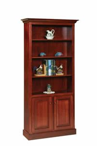 Amish Shaker Style Bookcase with Doors