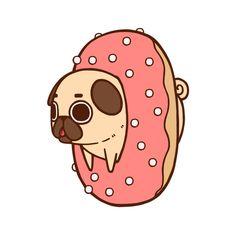 puglie | LOL dog drawing Illustration art funny animals cute food puppy design ...
