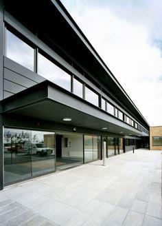 AAlborg hospital in Denmark by Cubo Arkitekter A/S  #Architecture #Project #Hospital #Denmark #Zinc #VMZINC #AnthraZinc #Facade