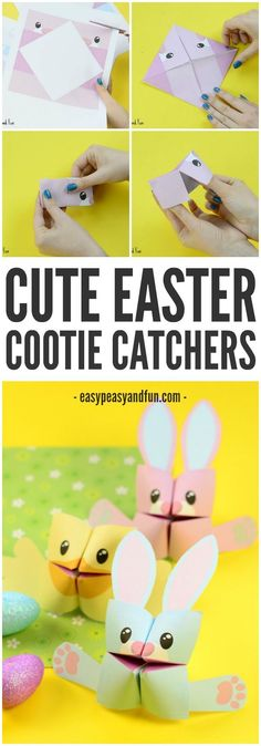 Easter Cootie Catchers – Bunny or Chick! Fun DIY and simple Origami for Kids to make this spring! #site:cheapcrafts.club