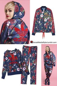 Buy Rita Ora's adidas Originals by Rita Ora Floral Print Track Jacket, Hoodie, and Track Pants, here!