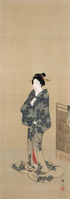 歌川広重「湯上がり美人図」Hiroshige