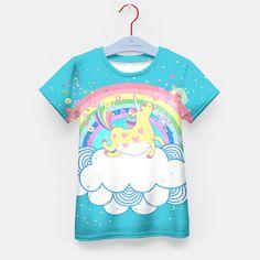 Rainbow Unicorn Kid's Tshirt, Live Heroes