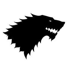 Game of Thrones - House Stark Sigil Stencil 1