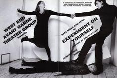 A life in the theatre #Vogue Italia October 1996   photographer: Bruce Weber   stylist: Joe McKenna